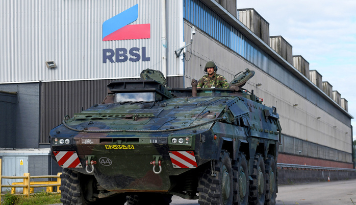 British Army's new Boxer MIV being displayed at RBSL's facility