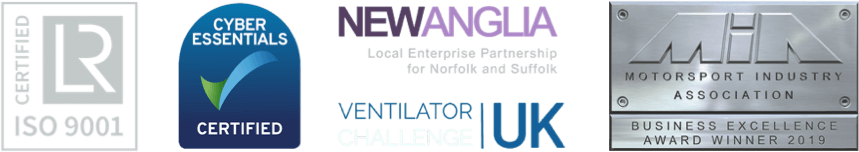 4 logos with transparent background, Lloyds iso 9001 certification, cyber essentials certified, new anglia enterprise partnership